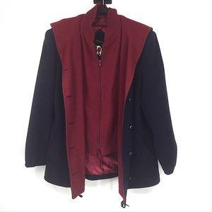 Vintage 70's Mackintosh Wool Vestcoat Jacket Navy